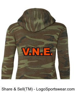 Alternative Apparel Ladies Athletic Hooded Pullover Design Zoom